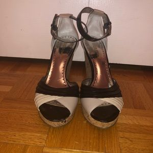 Black & Beige Heels